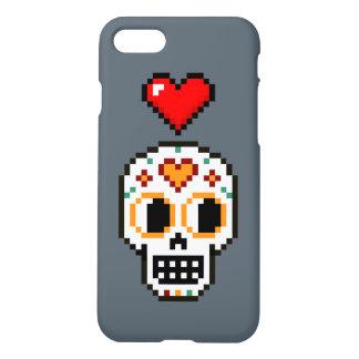 capas de iphone: dia de 8 bits do crânio