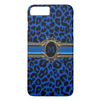 Capas de iphone do animal do monograma do leopardo