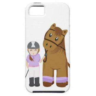 Capas de iphone do cavalo e da menina