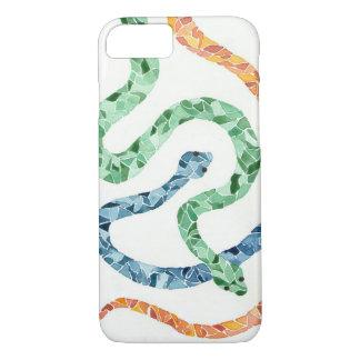 Capas de iphone do cobra da aguarela do mosaico