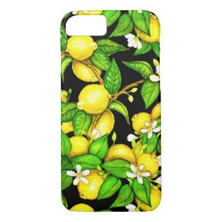 Capas de iphone do impressão do limão da forma