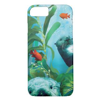 Capas de iphone do jardim de lontra de mar