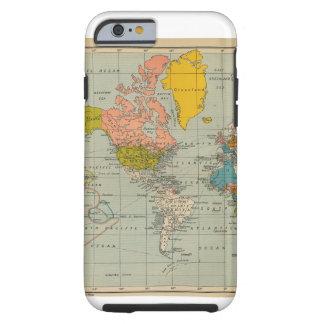 Capas de iphone do mapa do mundo do vintage capa tough para iPhone 6