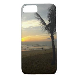 Capas de iphone do nascer do sol da palmeira