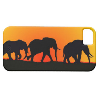 Capas de iphone do por do sol do elefante