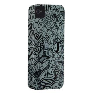 capas de iphone doodled originais capas para iPhone 4 Case-Mate