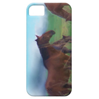 Capas de iphone dos cavalos selvagens capa barely there para iPhone 5