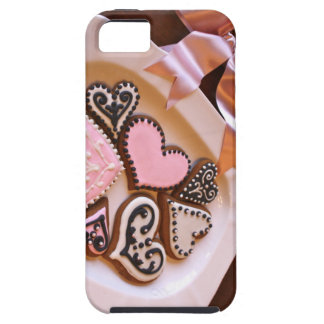 Capas de iphone dos corações do pão-de-espécie