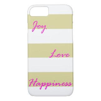 Capas de iphone douradas da alegria