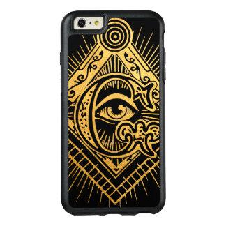 Capas de iphone douradas de OtterBox do símbolo do