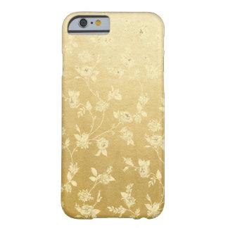 Capas de iphone douradas florais do teste padrão