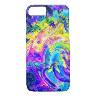 capas de iphone em um abstrato colorido vibrante