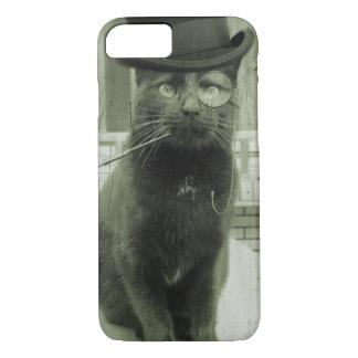 Capas de iphone engraçadas do gato de Steampunk