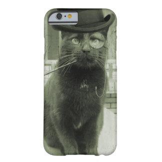 Capas de iphone engraçadas do gato de Steampunk Capa Barely There Para iPhone 6