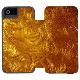 Capas de iphone escovadas marteladas do ouro