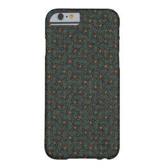 Capas de iphone espirais verdes & alaranjadas