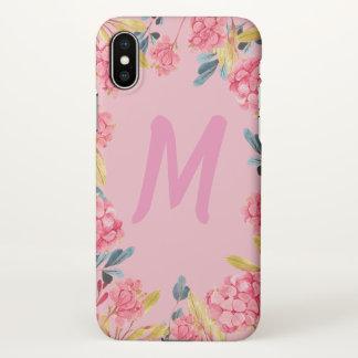 Capas de iphone femininos cor-de-rosa florais do