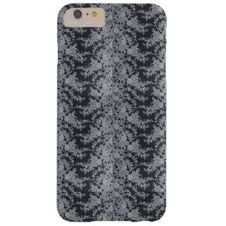 Capas de iphone finas florais pretas da textura do