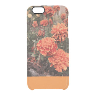 Capas de iphone florais alaranjadas