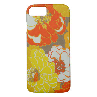Capas de iphone florais alaranjadas e amarelas do