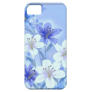 Capas de iphone florais azuis 5 do vintage - 5s