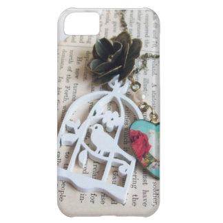 Capas de iphone florais da colar do vintage da
