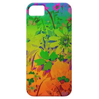 Capas de iphone florais do arco-íris capa barely there para iPhone 5