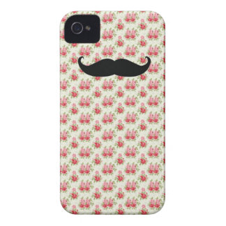 Capas de iphone florais do bigode capas para iPhone 4 Case-Mate