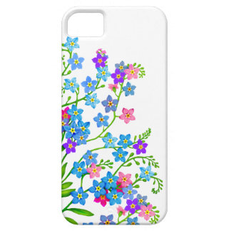 Capas de iphone florais do jardim dos miosótis capa para iPhone 5