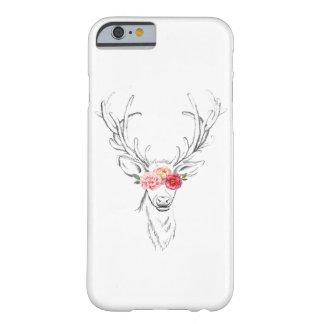 Capas de iphone florais dos cervos do vintage capa barely there para iPhone 6