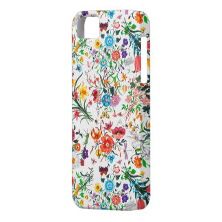 Capas de iphone florais vívidas intrincadas capa para iPhone 5