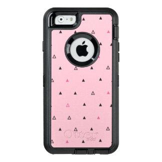Capas de iphone geométricas pretas cor-de-rosa de