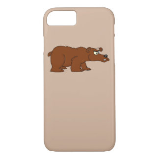 Capas de iphone irritadas do design do urso marrom