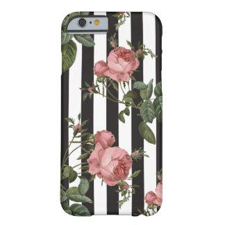 Capas de iphone listradas florais do vintage capa barely there para iPhone 6