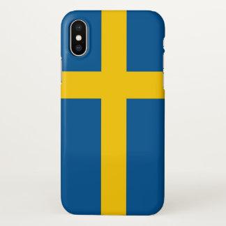 Capas de iphone lustrosas com a bandeira da suecia