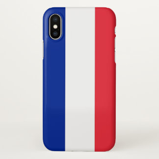 Capas de iphone lustrosas com a bandeira de France