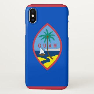 Capas de iphone lustrosas com a bandeira de Guam,