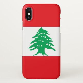 Capas de iphone lustrosas com a bandeira de Líbano