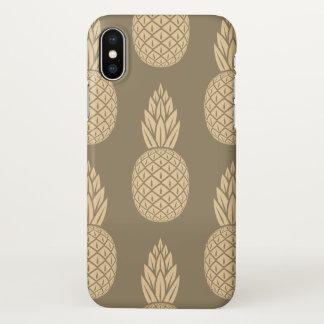 Capas de iphone lustrosas do abacaxi do Sepia