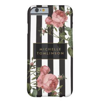 Capas de iphone personalizadas listradas florais capa barely there para iPhone 6