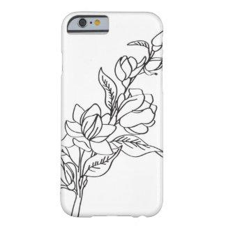 Capas de iphone preto e branco florais