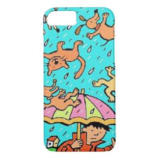 Capas de iphone que chovem cães dos gatos n