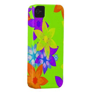 Capas de iphone retros da arte de flower power dos capas para iPhone 4 Case-Mate