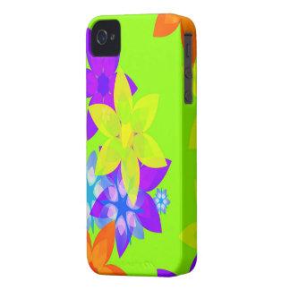 Capas de iphone retros da arte de flower power dos capinha iPhone 4