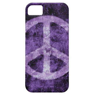 Capas de iphone roxas afligidas do sinal de paz
