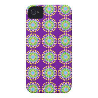 Capas de iphone roxas & amarelas retros de flower capinhas iPhone 4