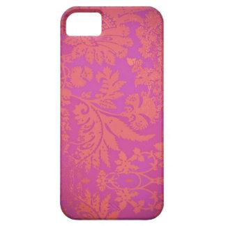 Capas de iphone roxas/cor-de-rosa do vintage capa para iPhone 5