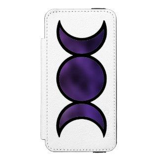 Capas de iphone roxas da carteira da deusa capa carteira incipio watson™ para iPhone 5