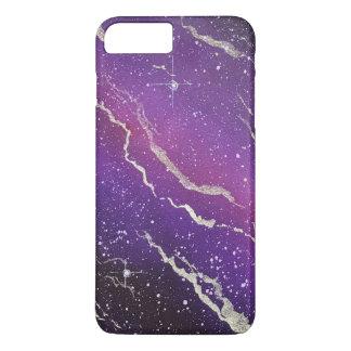 Capas de iphone roxas da galáxia do espaço