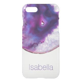Capas de iphone roxas personalizadas do cristal da